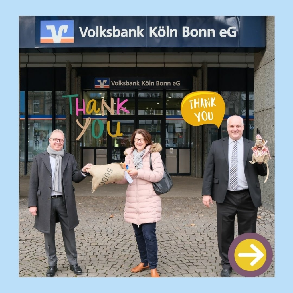 Wir bedanken uns bei der Volksbank Köln Bonn